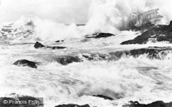 Aberdaron, Rough Sea c.1960