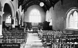 Aberdaron, St Hywyn's Church, Interior c.1960