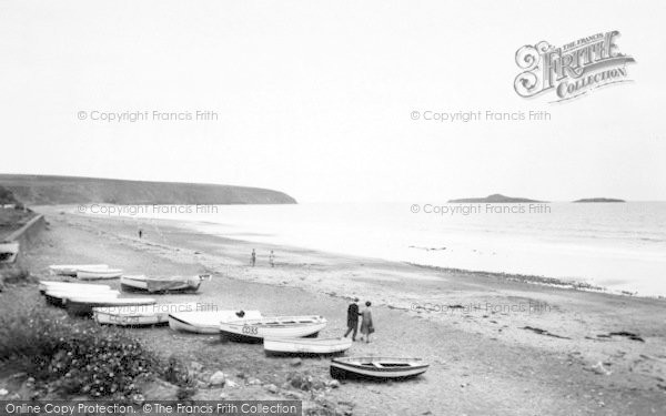 Photo of Aberdaron, The Beach And Gull Island c.1935