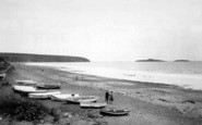 Aberdaron, The Beach And Gull Island c.1935