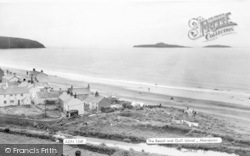 Aberdaron, The Beach And Gull Islands c.1955