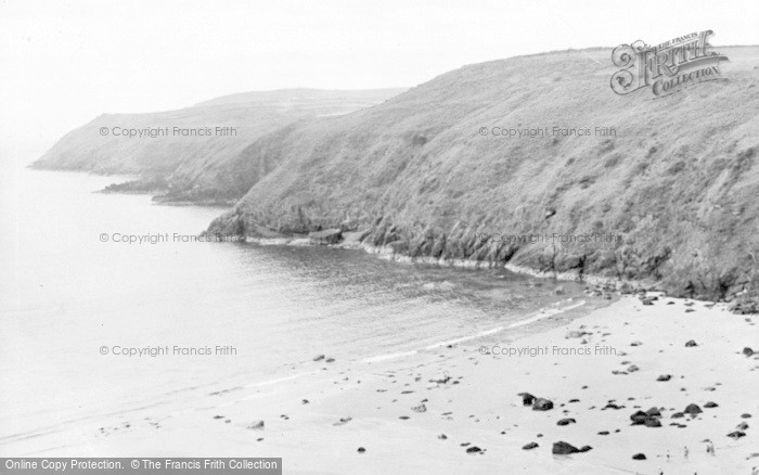 Photo of Aberdaron, The Beach And Headland c.1955