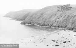 Aberdaron, The Beach And Headland c.1955