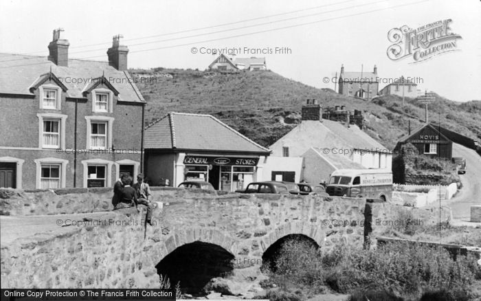 Photo of Aberdaron, The Bridge And Evans & Owen's General Store c.1960