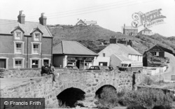 Aberdaron, The Bridge And Evans & Owen's General Store c.1960