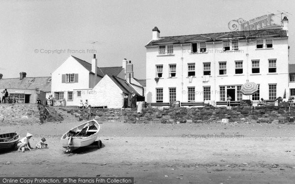 Photo of Aberdaron, Ty Newydd Hotel From The Beach c.1960