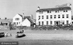 Aberdaron, Ty Newydd Hotel From The Beach c.1960