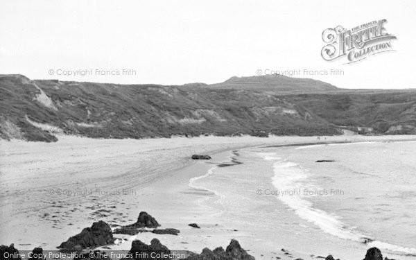 Photo of Aberdaron, Whistling Sands c.1955