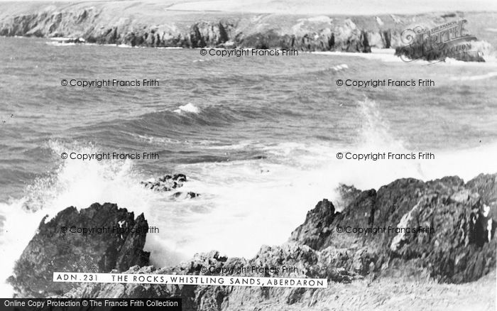 Photo of Aberdaron, Whistling Sands, The Rocks c.1960