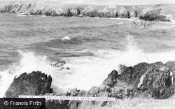 Aberdaron, Whistling Sands, The Rocks c.1960