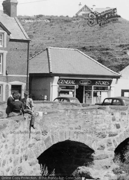Photo of Aberdaron, Young People On The Bridge c.1960