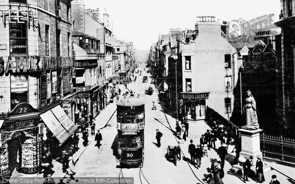 Aberdeen, St Nicholas's Street and Queen's Corner c1899