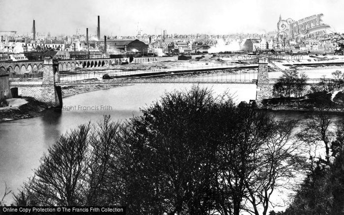 Photo of Aberdeen, The Suspension Bridge c.1885