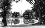 Aberdeen, the Swan Pond, Duthie Park c1900