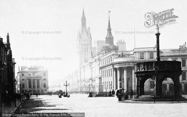 Photo of Aberdeen, Union Street And The Market Cross c.1885