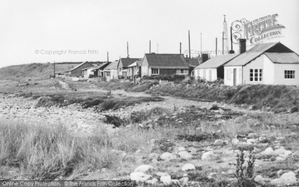 Photo of Aberdesach, Buildings By The Shoreline c.1955