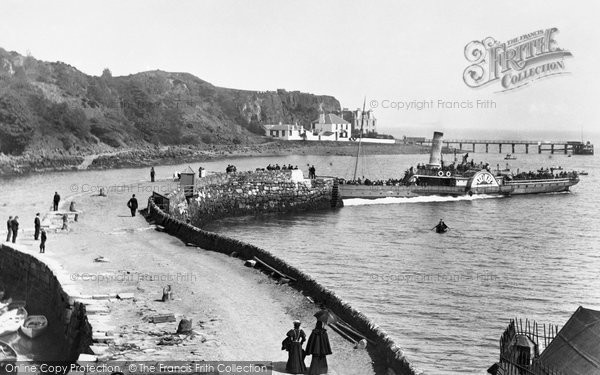 Photo of Aberdour, Steamer At The Pier 1897