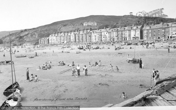 Photo of Aberdovey, From The Sands c.1955