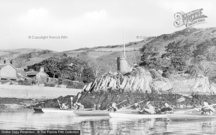 Photo of Aberdovey, Outward Bound Sea School, Canoe Expedition Up Estuary c.1960