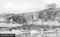 Aberdovey, Outward Bound Sea School, Canoe Expedition Up Estuary c.1960