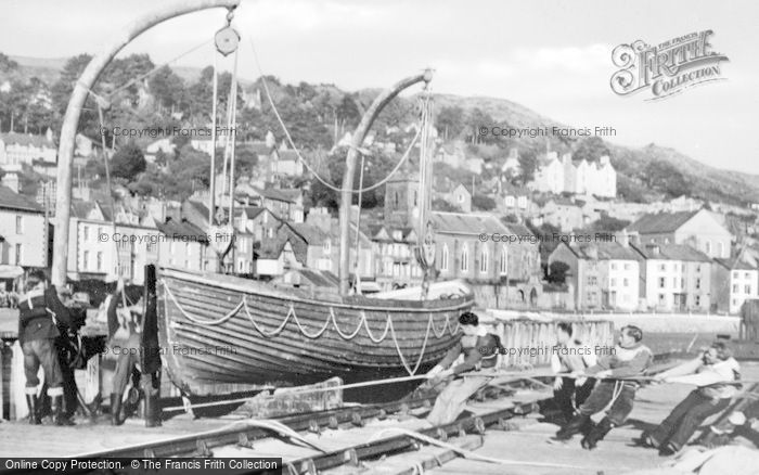 Photo of Aberdovey, Outward Bound Sea School, Lifeboat Drill c.1960