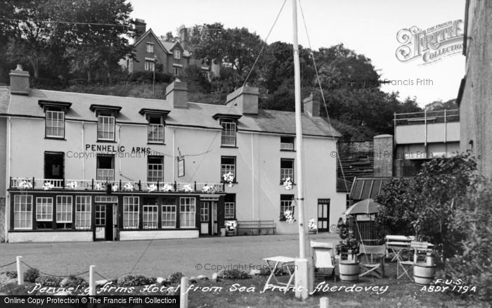 Photo of Aberdovey, Penhelig Arms From Seafront c.1955