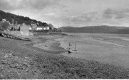 Aberdovey, Penhelig Beach c.1955