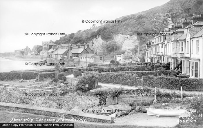 Photo of Aberdovey, Penhelig Terrace c.1955