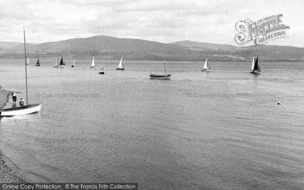 Photo of Aberdovey, Sailing c.1955