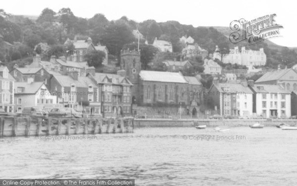 Photo of Aberdovey, St Peter's Church,  From The Sea c.1965