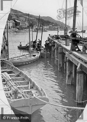 Aberdovey, The Jetty c.1955
