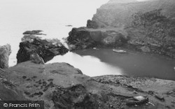 Abereiddy, The Old Quarry Harbour c.1960