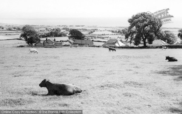 Photo of Abererch, Across The Fields c.1960