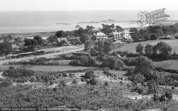 Photo of Abererch, Pwllheli Harbour From Clogwyn Mawr c.1950