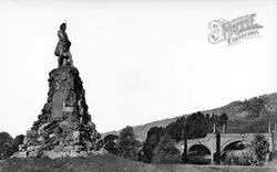 Black Watch Monument And General Wade's Bridge c.1935, Aberfeldy