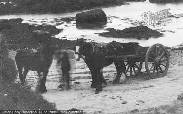 Photo of Aberffraw, Horses, Porthcwyfan Beach  c.1939