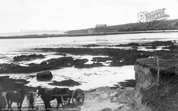 Photo of Aberffraw, Porthcwyfan Beach And Church c.1939