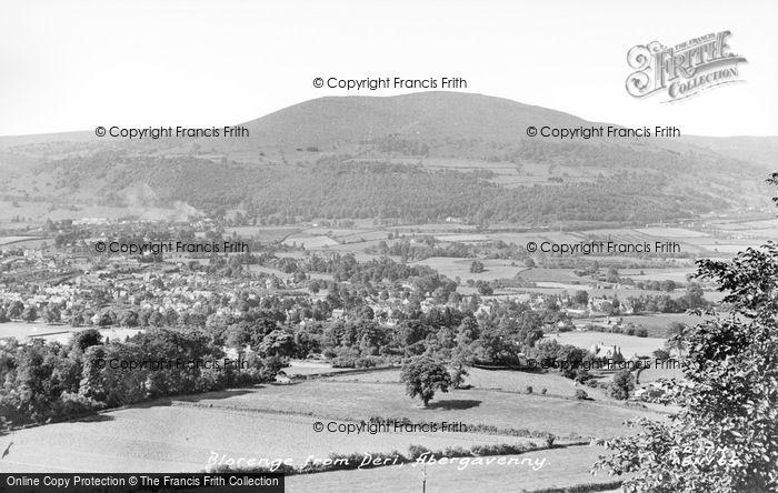 Photo of Abergavenny, Blorenge From Deri c.1950