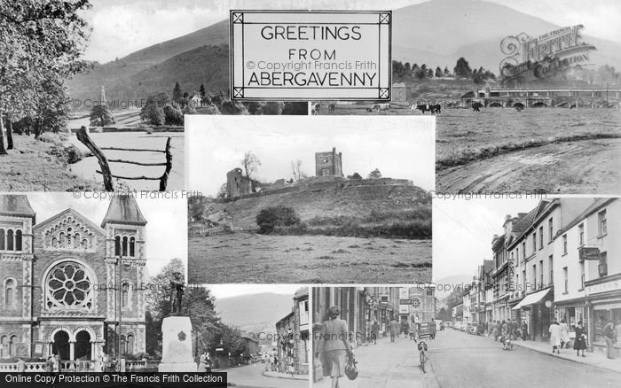 Photo of Abergavenny, Composite c.1955
