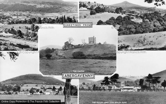 Photo of Abergavenny, Composite c.1960