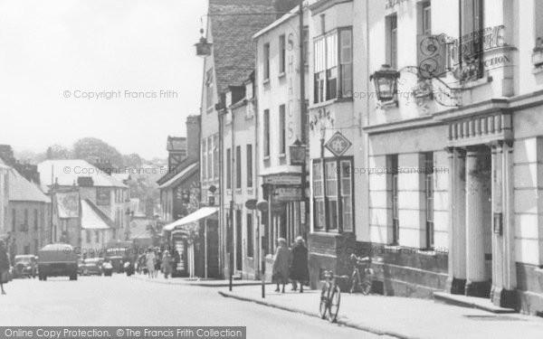 Photo of Abergavenny, Cross Street, The Angel Hotel c.1955