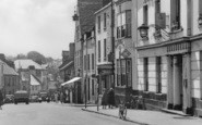 Abergavenny, Cross Street, The Angel Hotel c.1955