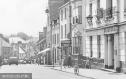 Abergavenny, Cross Street, The Angel Hotel c.1955