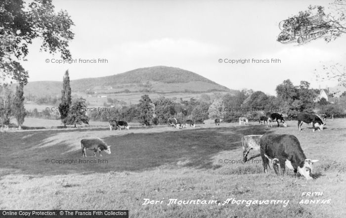 Photo of Abergavenny, Deri Mountain c.1955