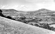 Abergavenny, from the Blorenge c1960