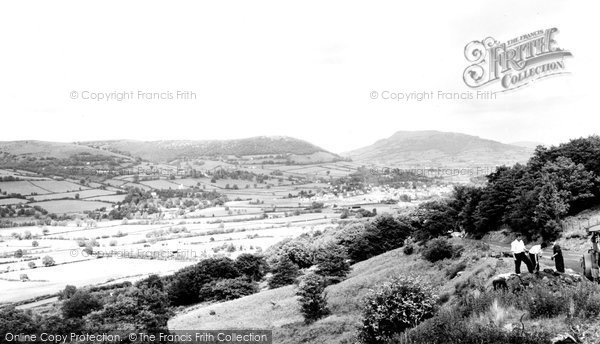Abergavenny, Holy Mountain From The Blorenge c.1965