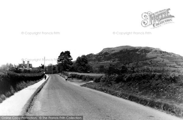 Photo of Abergavenny, Holy Mountain From The Main Road c.1955