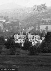 Abergavenny, Nevill Hall From The River Usk 1898