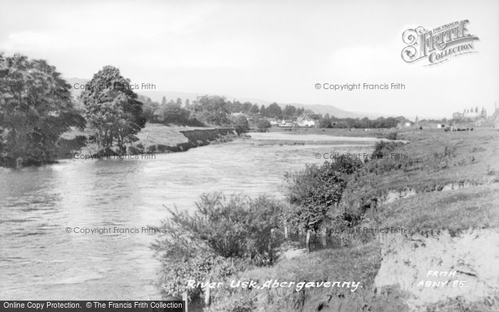 Photo of Abergavenny, River Usk c.1960