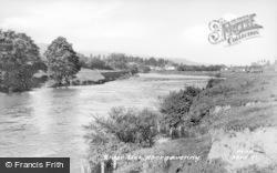 Abergavenny, River Usk c.1960